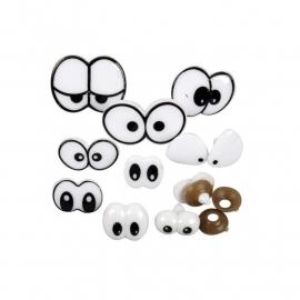 Grappige ogen - Assortiment, afm 2-3 cm