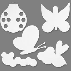 Kartonnen Insecten, h: 10-21 cm, 16 assorti, 230 gr (Teach Me)