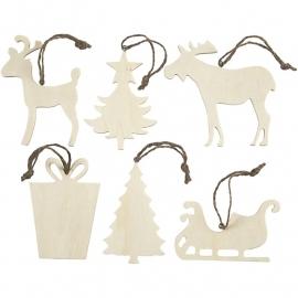 Hangers kerst k2 (6 stuks assorti)