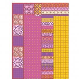 Decoupage papier, vel 25x35 cm, roze
