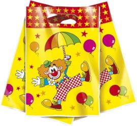 Uitdeelzakjes clown 25 cm 6 stuks