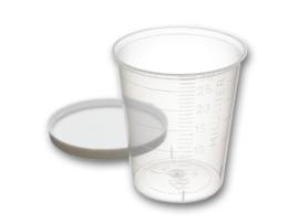 Maatbekertje / medicijnbekertje incl deksel 30 ml (25 stuks)