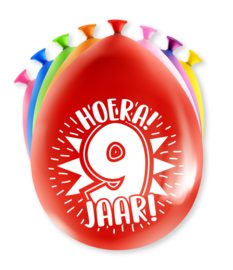 Party ballonnen 9 jaar