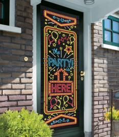 Door Banner Neon - The party is here