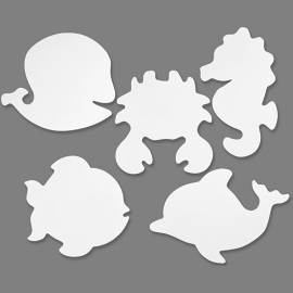 Kartonnen Zeedieren, h: 18,5-26 cm, 16 assorti, 230 gr (Teach Me)