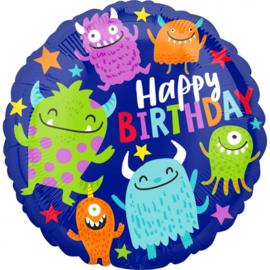 Folieballon Happy Little Monsters Birthday