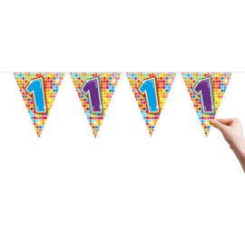 Vlaggenlijn Birthday Blocks 1 jaar (6 meter)