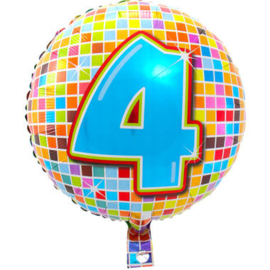 4 jaar Birthday Blocks folieballon - 43 cm