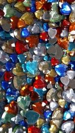 Strasstenen, d: 6+10+14 mm, kleuren assorti, harten