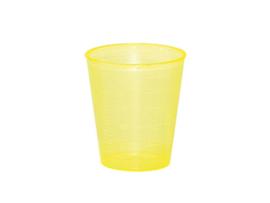 Maatbekertje / medicijnbekertje incl deksel 30 ml geel (25 stuks)