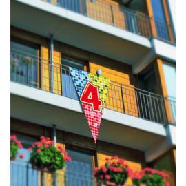 4 Jaar Megavlag Birthday Blocks 90x150cm