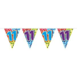 Vlaggenlijn mini  Birthday Blocks 11 Jaar - 3 meter