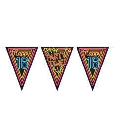 Vlaggenlijn Neon Happy 16