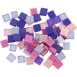 Mini mozaiek  Paars/roze (5x5 mm)