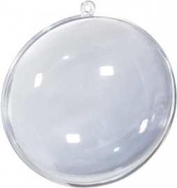 Transparante medaillon 7 cm  (5 stuks)