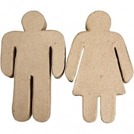 Man en vrouw (8,5x2x15 cm)