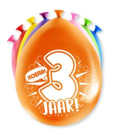 Party ballonnen 3 jaar