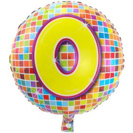 0  jaar Birthday Blocks folieballon - 43 cm