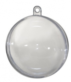 Transparante Deco bal 5 cm (10 stuks)