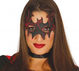 Vleermuismasker dames polyester zwart one-size