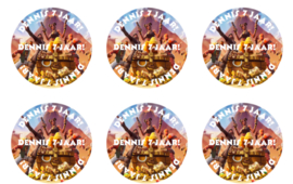 Stickertjes 60 mm - 12 per vel (eigen ontwerp)