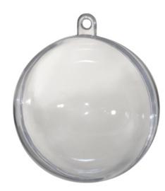 Transparante Deco Ballen, d: 13,6 cm  1stuk