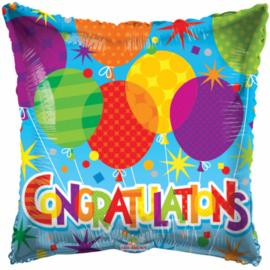 Folieballon Congratulations junior 45 cm