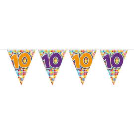 Vlaggenlijn Birthday Blocks 10 jaar (6 meter)