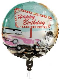 Folieballon Happy Birthday Rock 'n Roll 45 cm