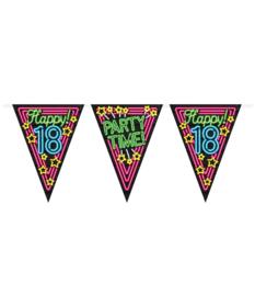 Vlaggenlijn Neon Happy 18