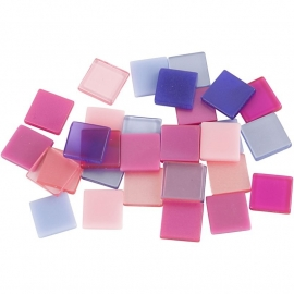 Mini mozaiek Paars/Roze (10x10 mm)