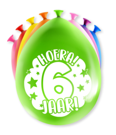 Party ballonnen 6 jaar
