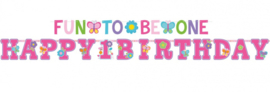 Letterslingers 1 jaar Sweet Birthday (pink)