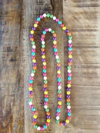 Kleurrijke ketting 117 cm