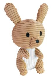 Lumo Stars rammelaar konijn junior 15cm pluche bruin/wit
