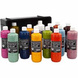 Textile Color Basic, trendy kleuren, 15x500ml (GrV)