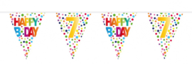 vlaggenlijn Happy Birthday 7 Jaar