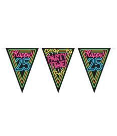 Vlaggenlijn Neon Happy 25