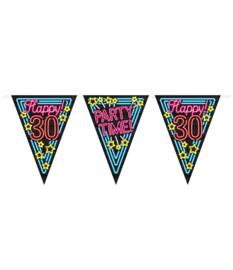 Vlaggenlijn Neon Happy 30