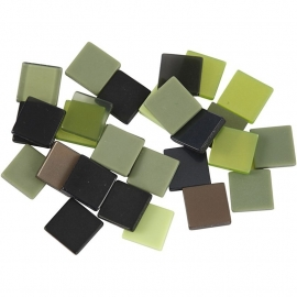 Mini mozaiek  Groen (10x10 mm)