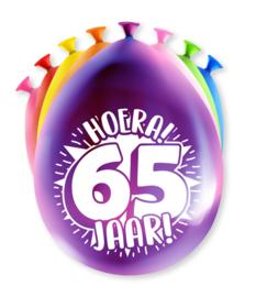 Party ballonnen 65 jaar
