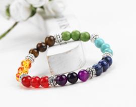 Kralen armband '7 Chakra's Helende Kracht'
