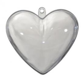 Transparant hartje (6,5 cm) (10 stuks)