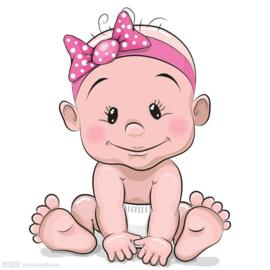 TAARTPRINT: BABY MEISJE