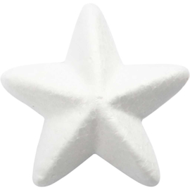 Sterren, b: 6 cm, wit, styropor , 50stuks (GrV)
