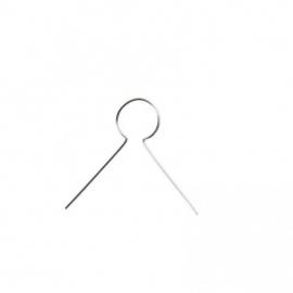Metalen hanger, l: 22 mm, verzilverd, 25 stuks