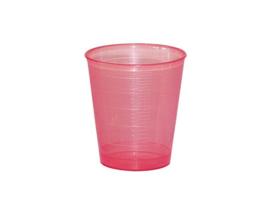 Maatbekertje / medicijnbekertje incl deksel 30 ml  rood (25 stuks)