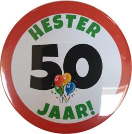 Button 56 mm - 50 jaar (maatwerk)