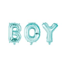 FOLIEBALLON 16″ 'BOY' BLAUW