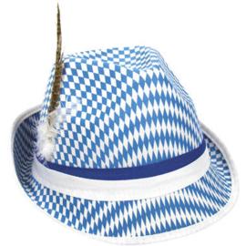 Hoed Oktoberfest Tiroler Blauw-Wit
